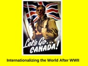 March 27 - Internationalizing the World after WWI