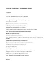 MA2000 - Learning Plan 3- Activities