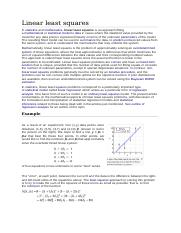 Linear least squares.docx