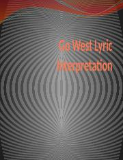 Go West Lyric Interpretation