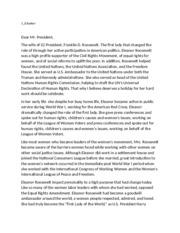 Eleanor Roosevelt Study Resources Eleanor Roosevelt Essays