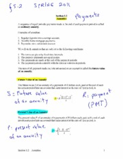 Annuity Notes