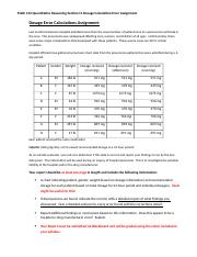 Section 11 Dosage Error Calculation Assignment
