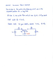 First Order Circuits 2