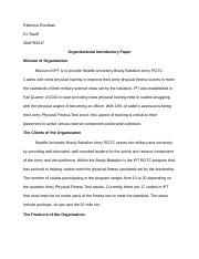 Internship- Introductory Paper