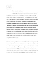 theater one essay two