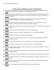 7 Decision Making and Creativity