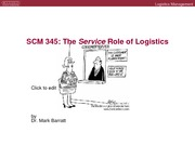 The Service Role of Logistics