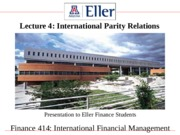 Finance414Lecture4InternationalParityRelations
