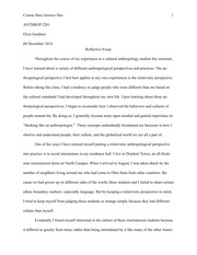 Complete Reflective Essay
