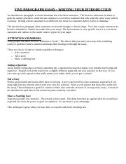 Five Paragraph Essay - Introduction 1.odt