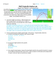 AP Physics PhET Projectile Lab - AP Physics B Name Vinh Vu Period 2
