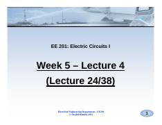 Lectures 24 to 25