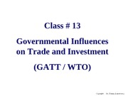 13 Governmental  influence on trade GATT_WTO 3600RCDC-