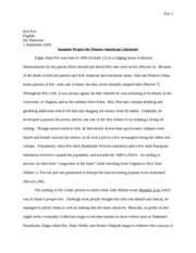 Summer project for honors american literature (Autosaved)