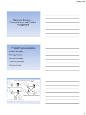 CIVIL 704 Week 6 Managing Projects - Communication (Handout)