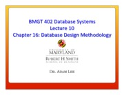 Lecture 10 - Database Design