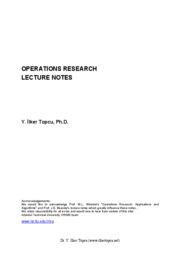 operation research explanation