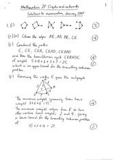Answers to Sample Degree Examination for Mathematics 2P (Solutions)