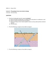 questions on stratigraphy