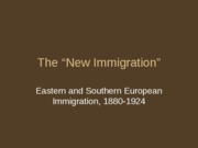 (11) The New Immigration