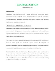12 Pages Globalization(Solved)