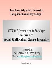 CCN1018 Lecture 6&7 Social Stratification.ppt