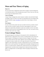 Aging Theory Handout