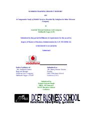 31735605-Summer-Training-Project-of-Vodafone.doc