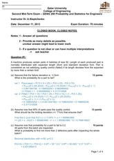 2nd MidTerm exam, fall 2013 solution