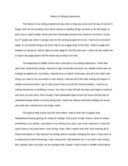 Writing Experience Essay