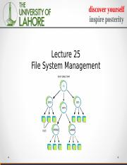 lecture 25 file systems.ppt