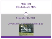 Lecture 2- Job Analysis, Workforce Planning, & Recruitment
