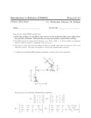 introduction to robotics cs223a homework solution