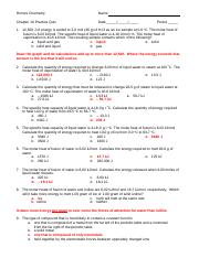 Solids and Liquids Practice Quiz Answer Key II 12-13