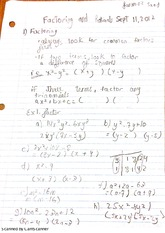 factoring and rationals