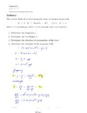 PHYS 454 HOMEWORK 1 SOLUTIONS