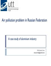 Air pollution problem in Russian Federation3