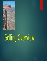 Selling Overview