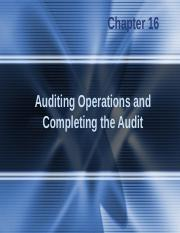 Principle of Auditing -chap016.ppt