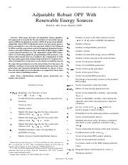Adjustable Robust OPF WithRenewable Energy Sources
