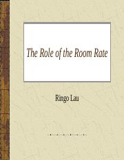 The role of room rate-1