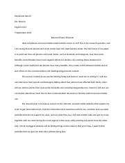 Research Paper Proposal