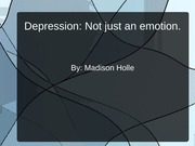 The Study of Depression (Powerpoint)