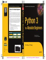 Apress - Python 3 for Absolute Beginners (2009).pdf