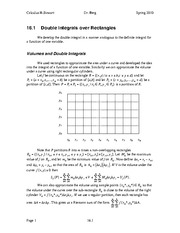 Calculus II Notes 16.1