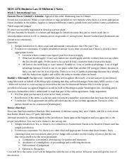 MOS 2276 Business Law II Midterm 2 Notes