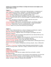 Abnormal- FINAL EXAM Study Guide
