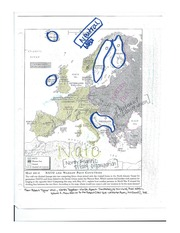 NATO and Warsaw Pact Map