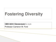 Fostering Diversity